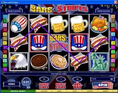 Casino Mate featuring the Video Slots Bars & Stripes with a maximum payout of $500,000