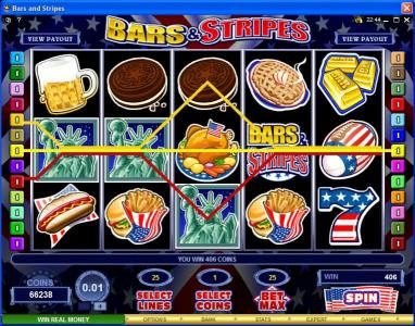 Colosseum featuring the Video Slots Bars & Stripes with a maximum payout of $500,000