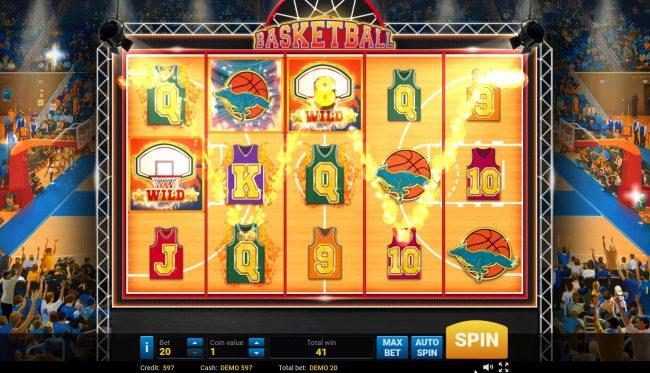 Basketball :: Multiple winning paylines