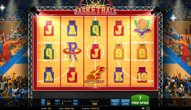 Basketball :: Free Spins Game Board