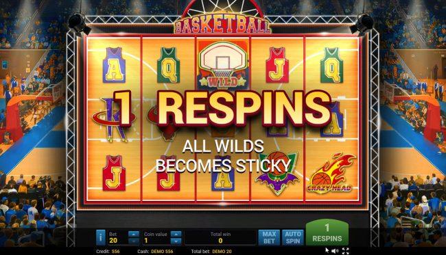 Basketball :: Respin triggered
