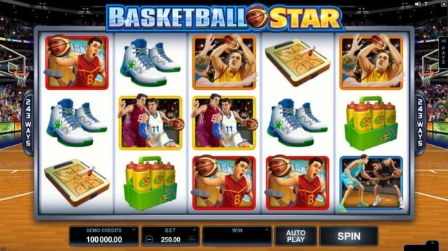 Play slots at YouWin: YouWin featuring the Video Slots Basketball Star with a maximum payout of $120,000