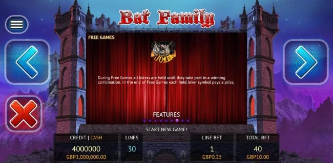 Leo Vegas featuring the Video Slots Bat Family with a maximum payout of $12,500,000