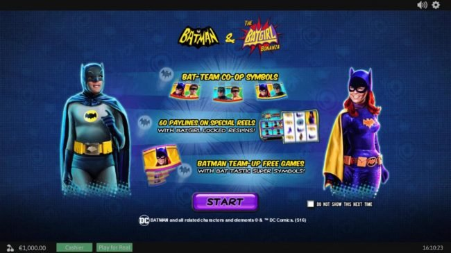 Leo Vegas featuring the Video Slots Batman and The Batgirl Bonanza with a maximum payout of Jackpot