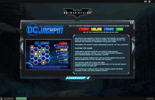 Batman Begins :: Progressive Jackpot Rules