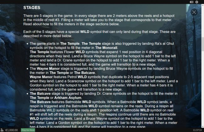 Batman Begins :: Stages