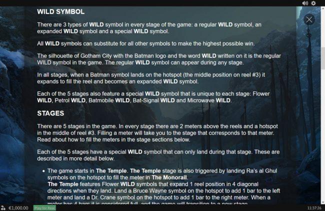 Batman Begins :: General Game Rules