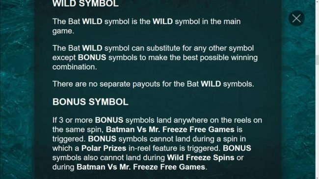Bat Wild Symbol Game Rules
