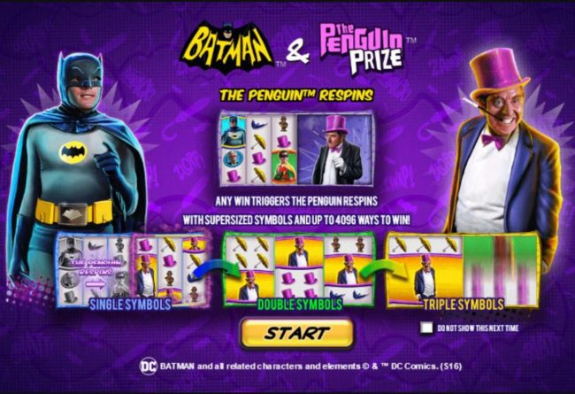 Play slots at Slots Heaven: Slots Heaven featuring the Video Slots Batman & The Penguin Prize with a maximum payout of Jackpot