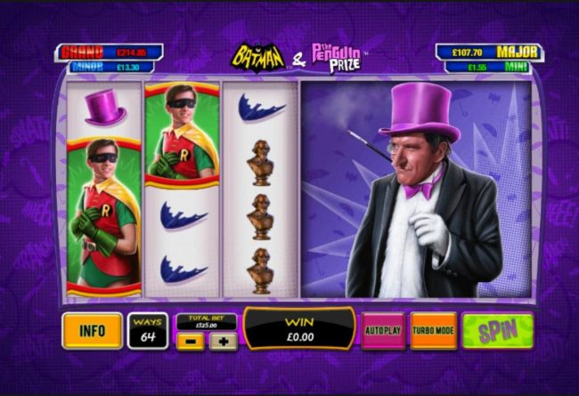 Slots Heaven featuring the Video Slots Batman & The Penguin Prize with a maximum payout of Jackpot