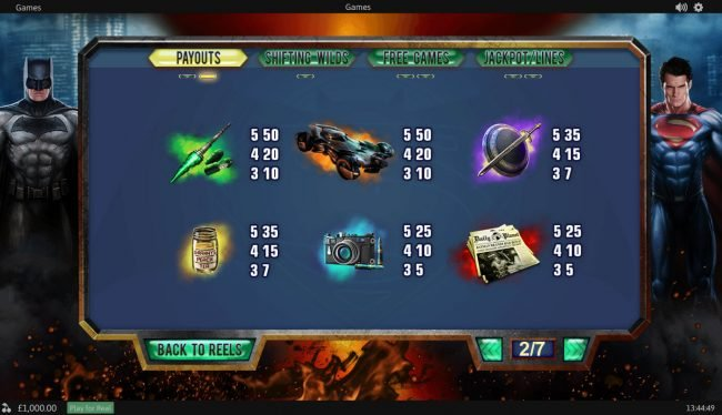 Casino.DK featuring the Video Slots Batman v Superman Dawn of Justice with a maximum payout of Jackpot