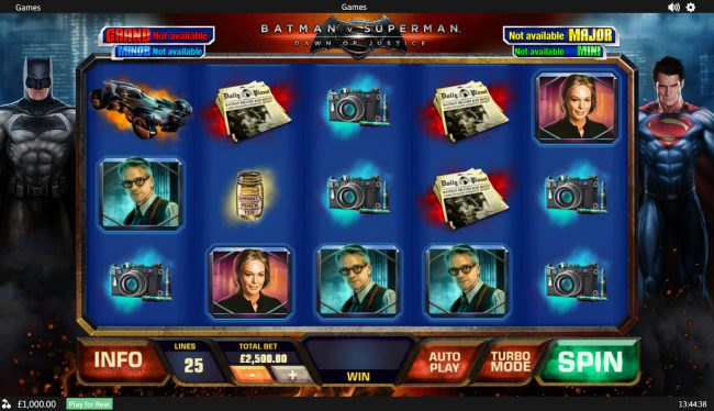Casino King featuring the Video Slots Batman v Superman Dawn of Justice with a maximum payout of Jackpot