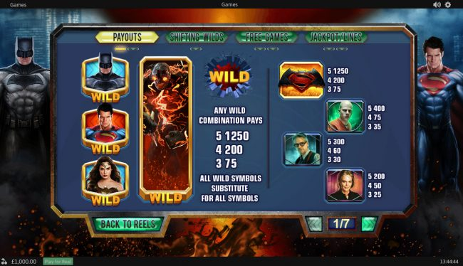 Joyland Casino featuring the Video Slots Batman v Superman Dawn of Justice with a maximum payout of Jackpot