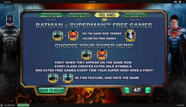 MANSION featuring the Video Slots Batman v Superman Dawn of Justice with a maximum payout of Jackpot