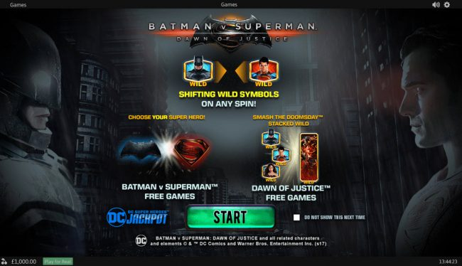 Money Storm featuring the Video Slots Batman v Superman Dawn of Justice with a maximum payout of Jackpot