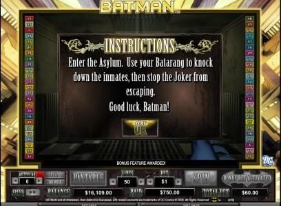 Enter the asylum. use your batarang to knock down inmates, then stop the joker from escaping