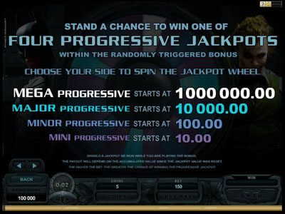 Play slots at Yukon Gold: Yukon Gold featuring the Video Slots Batman - The Dark Knight with a maximum payout of Jackpot