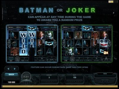 Batman or Joker Random Wins