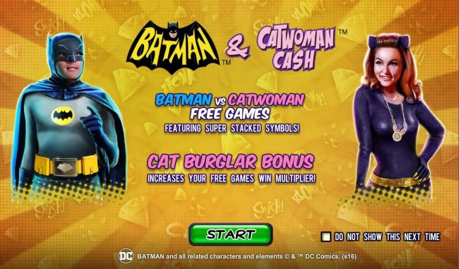 Slots Heaven featuring the Video Slots Batman and Catwoman Cash with a maximum payout of Jackpot
