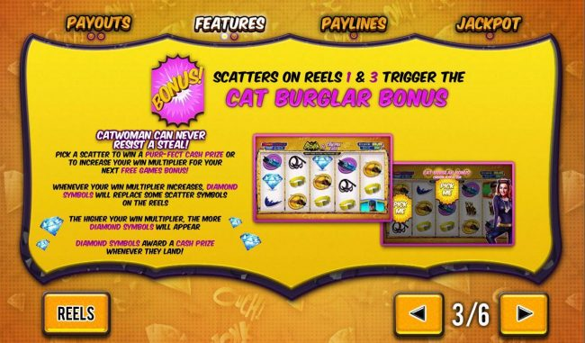 VIP Casino featuring the Video Slots Batman and Catwoman Cash with a maximum payout of Jackpot