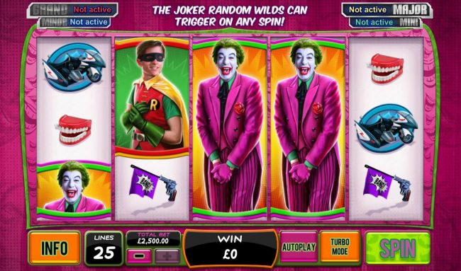 Leo Vegas featuring the Video Slots Batman and the Joker Jewels with a maximum payout of Jackpot