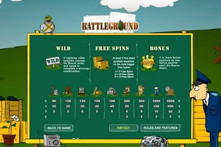 1BET featuring the Video Slots Battleground Spins with a maximum payout of $15,000