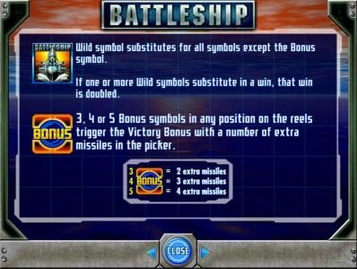 Casumo featuring the Video Slots Battleship with a maximum payout of $250,000