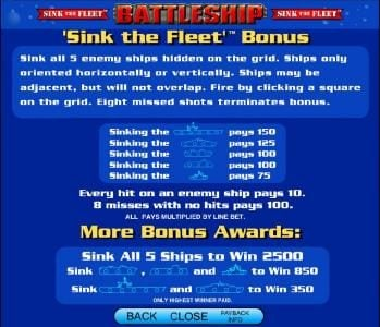 Play slots at Winstar: Winstar featuring the Video Slots Battleship - Search and Destroy with a maximum payout of $25,000