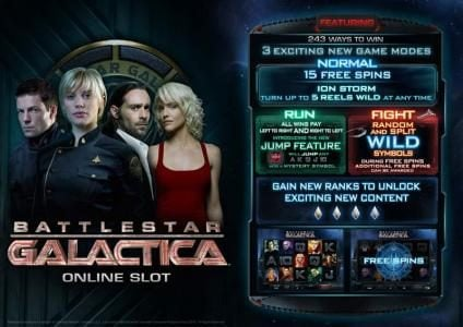 Play slots at Casino Action: Casino Action featuring the Video Slots Battlestar Galactica with a maximum payout of $70,000