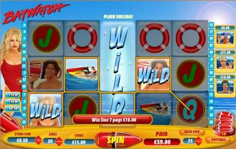 a $59 jackpot triggered by expanded wild