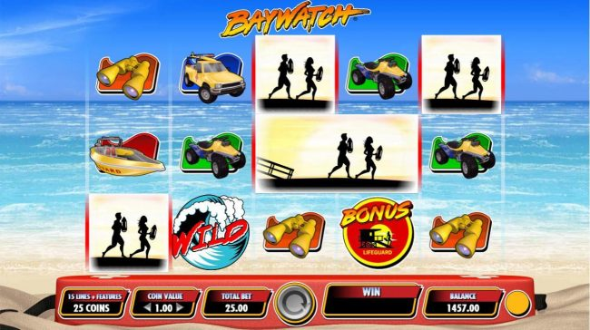 Next Casino featuring the Video Slots Baywatch with a maximum payout of $25,000,000