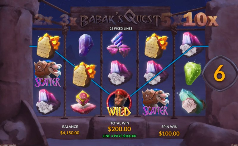 Babak's Quest :: Free Spins Game Board
