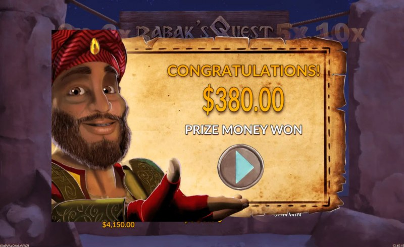 Babak's Quest :: Total free spins payout