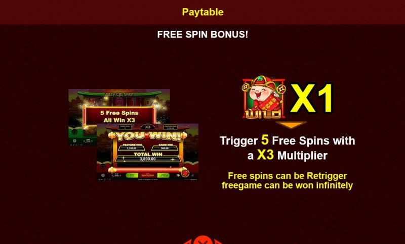 Baby Cai Shen :: Free Spins Rules