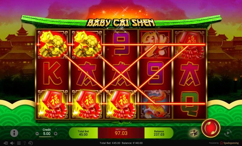 Baby Cai Shen :: Multiple winning paylines