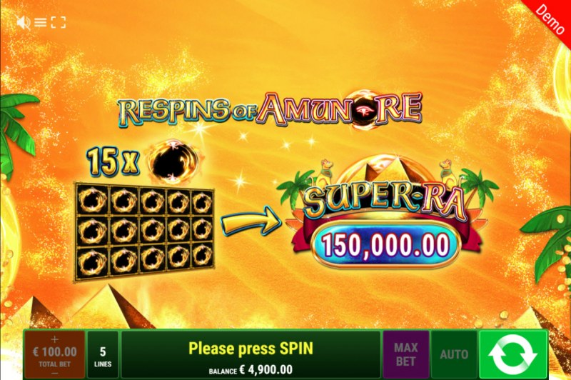 Back to the Fruits Respins of Amun Re :: Collect special symbols to win