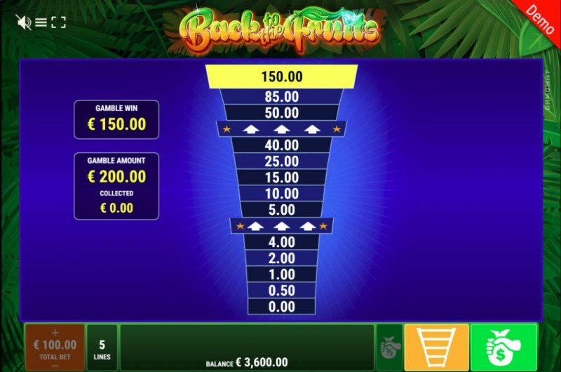 Back to the Fruits :: Ladder Gamble Feature