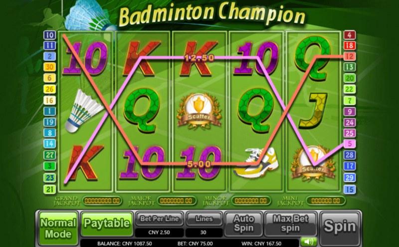 Badminton Champion :: Three of a kind