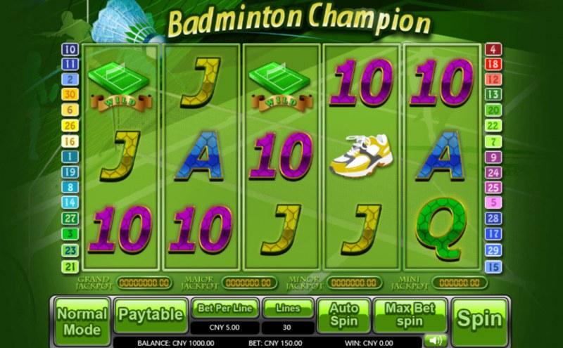 Badminton Champion :: Main Game Board