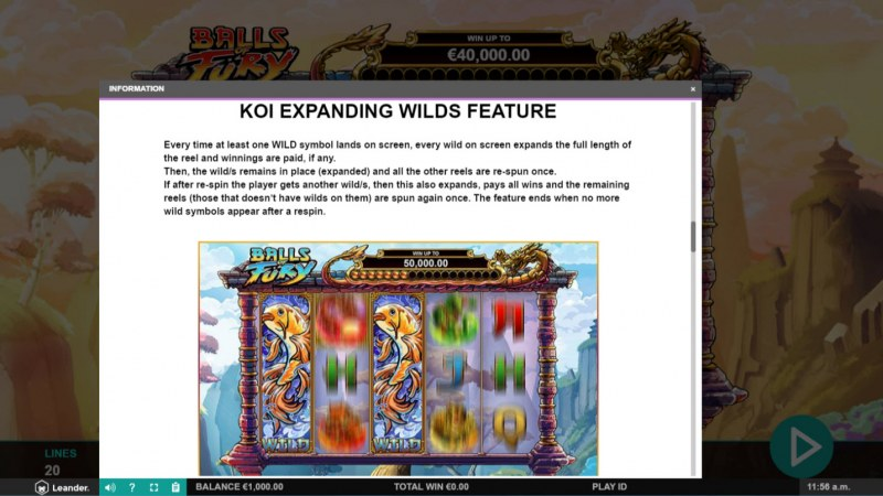 Balls of Fury :: Expanding Wild Feature