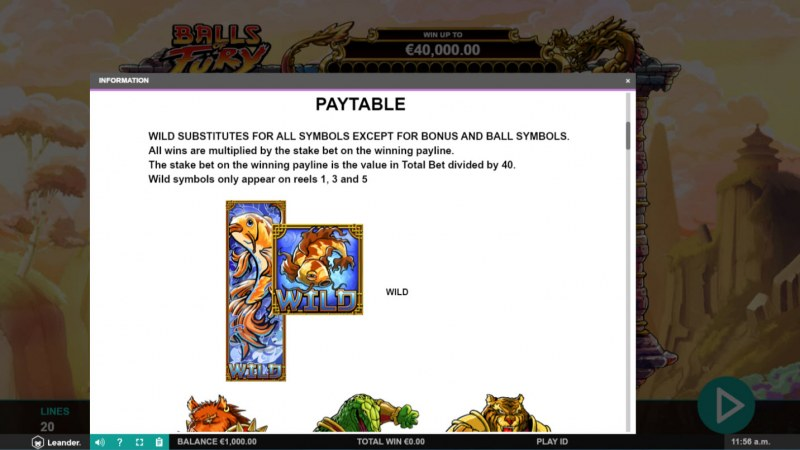 Balls of Fury :: Wild Symbols Rules