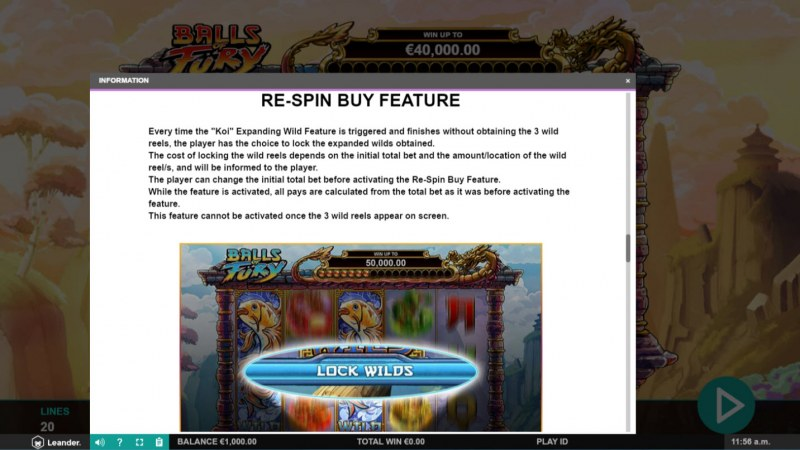Balls of Fury :: Re-Spin Buy Feature