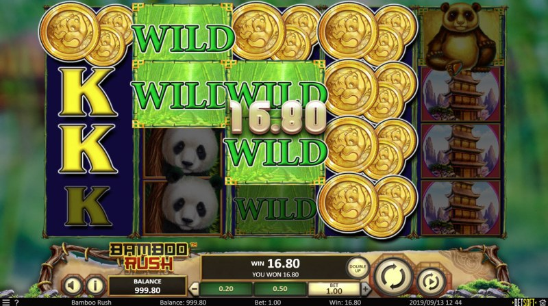 Bamboo Rush :: Multiple winning combinations leads to a big win