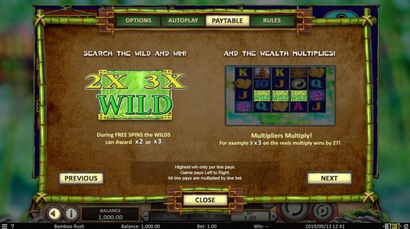 Bamboo Rush :: Wild Symbols Rules