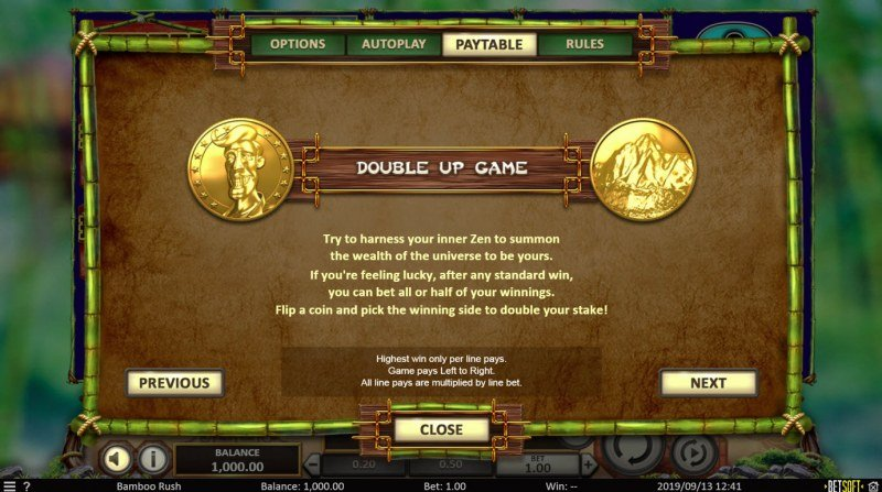 Play slots at Neder: Neder featuring the Video Slots Bamboo Rush with a maximum payout of $500,000