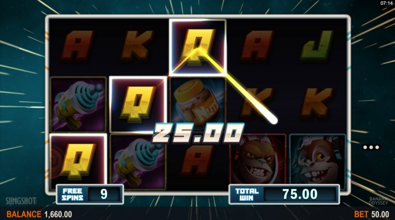 Banana Odyssey :: Free Spins Game Board