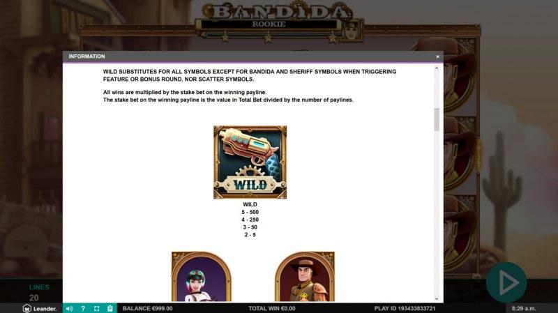 Bandida :: Wild Symbols Rules