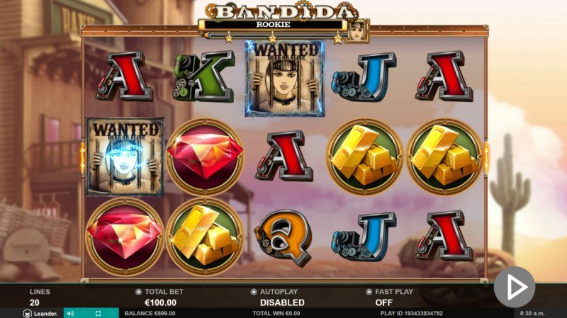 Bandida :: Collect wanted poster during game play and fill the meter to win bonus spins