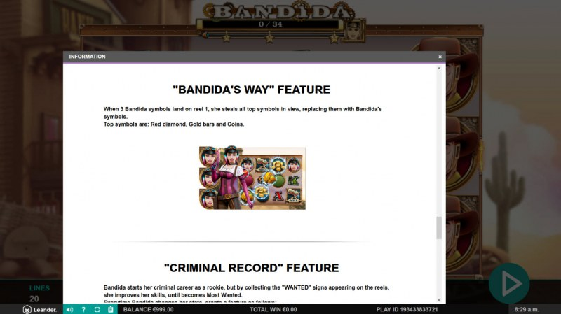 Bandida :: Bandida's Way Feature Rules