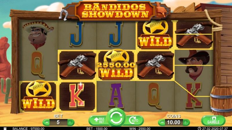 Bandidos Showdown :: Multiple winning combinations